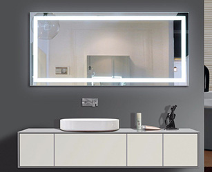 lighted bathroom mirror, light wall mirror, lighted Cabinets, illuminated mirror