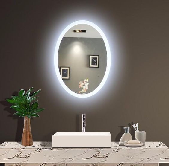 Backlit Mirrors For Bathrooms Backlit Wall Mirrors Lighted Mirror Com